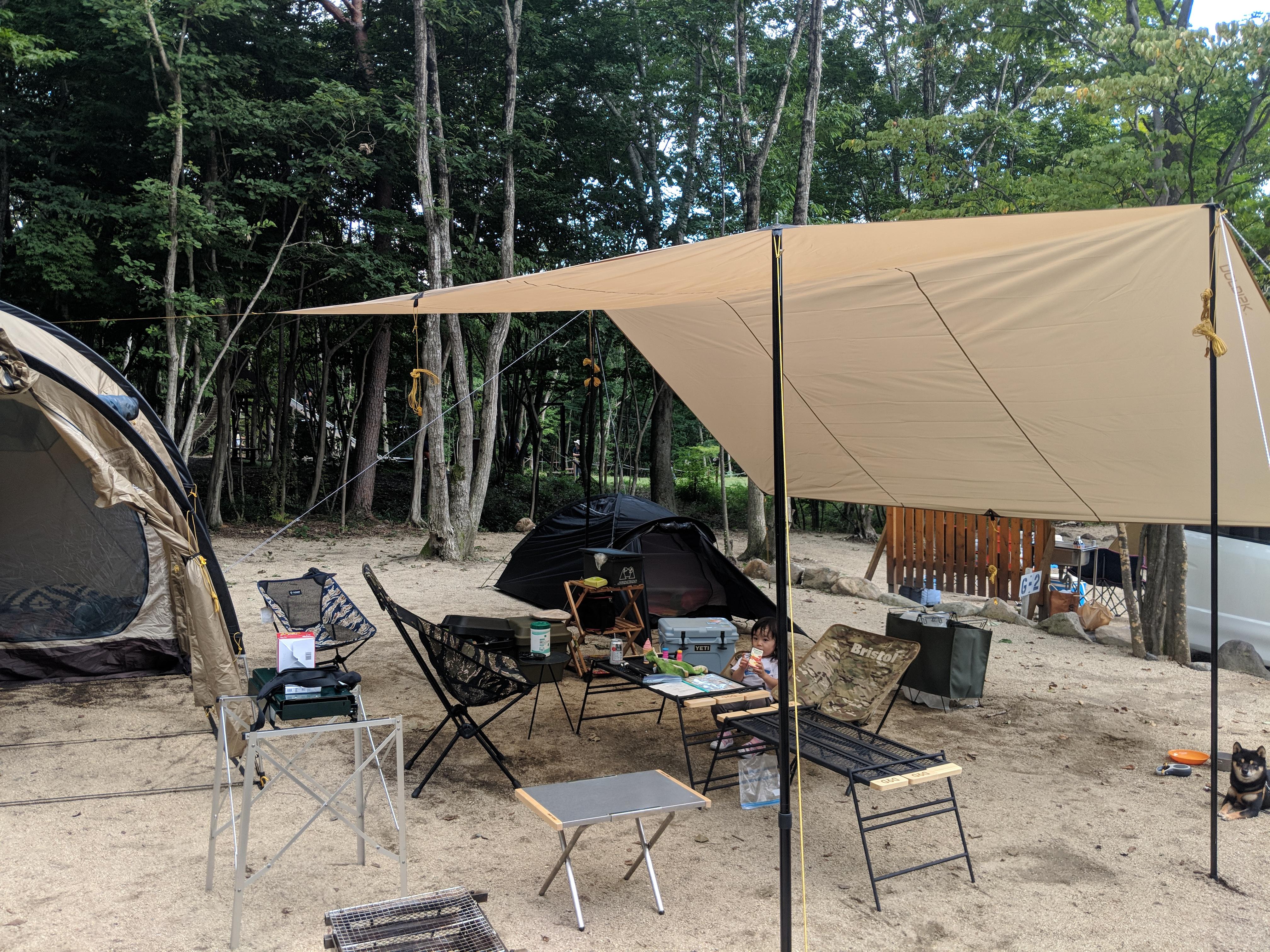 妻なしキャンプ